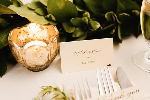 Classic and elegant escort card