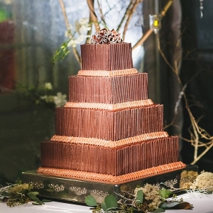 Gorgeous chocolate wedding cake