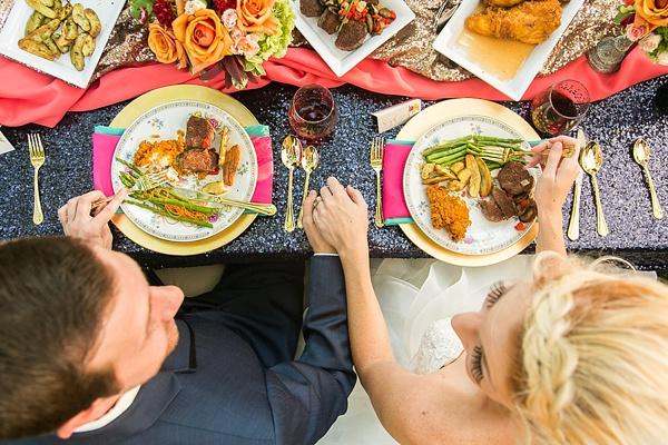 Colorful wedding food