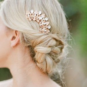 Copper Rose Gold Bridal Hair Piece