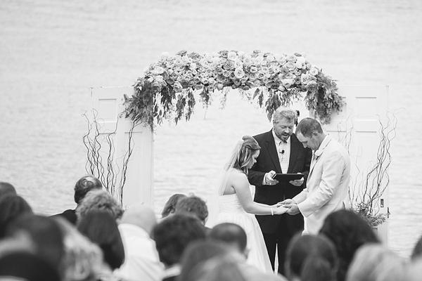 Country chic wedding ceremony
