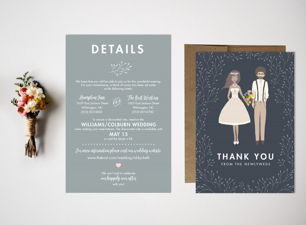 Custom Portrait Wedding Invitation