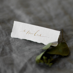 Calligraphy Wedding Name Card
