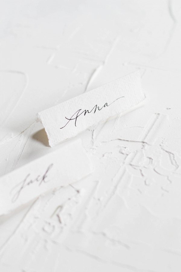 Calligraphy Wedding Name Cards