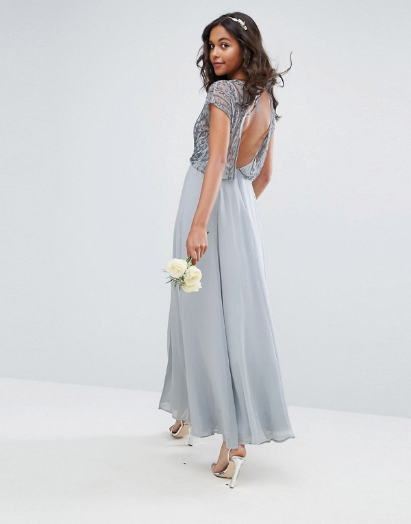 Delicate Beaded Bodice Maxi Dress