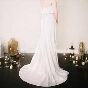 Dionne Simple Sequin Wedding Skirt