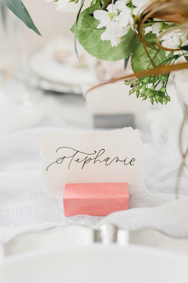 How to Make Colorful Wood Place Card Holders
