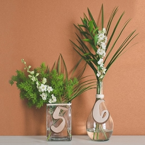 DIY table number centerpieces
