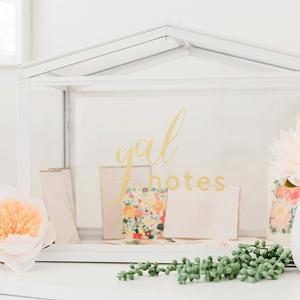 DIY Galentines Day Wedding Card Box made with Cricut