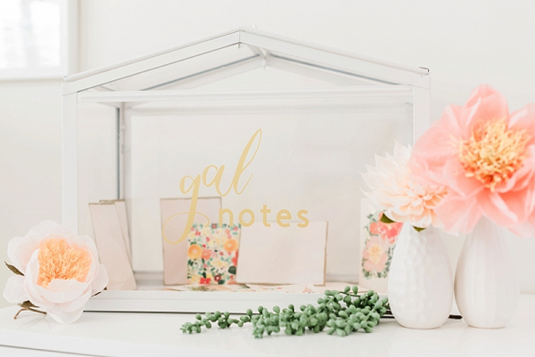 DIY Galentines Day Wedding Card Box made with Cricut