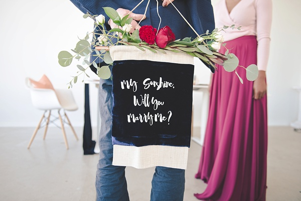 Diy Marriage Proposal Banner Aisle Society