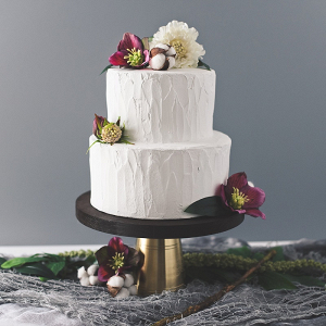 Rustic Wooden and Metal Cake Stand