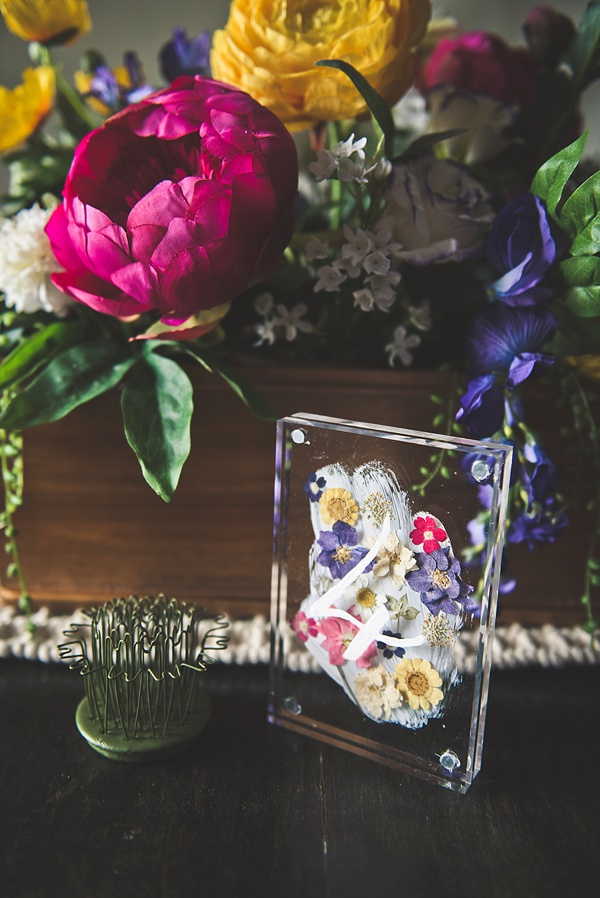 Pressed Flower Acrylic Table Number