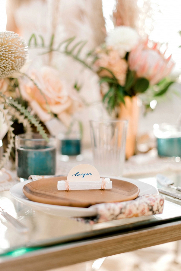 Selenite Crystal Wedding Place Cards