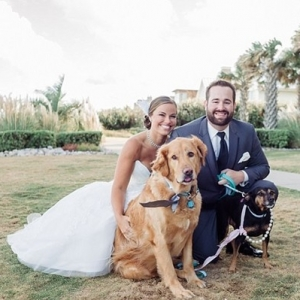 Virginia Beach wedding with dogs