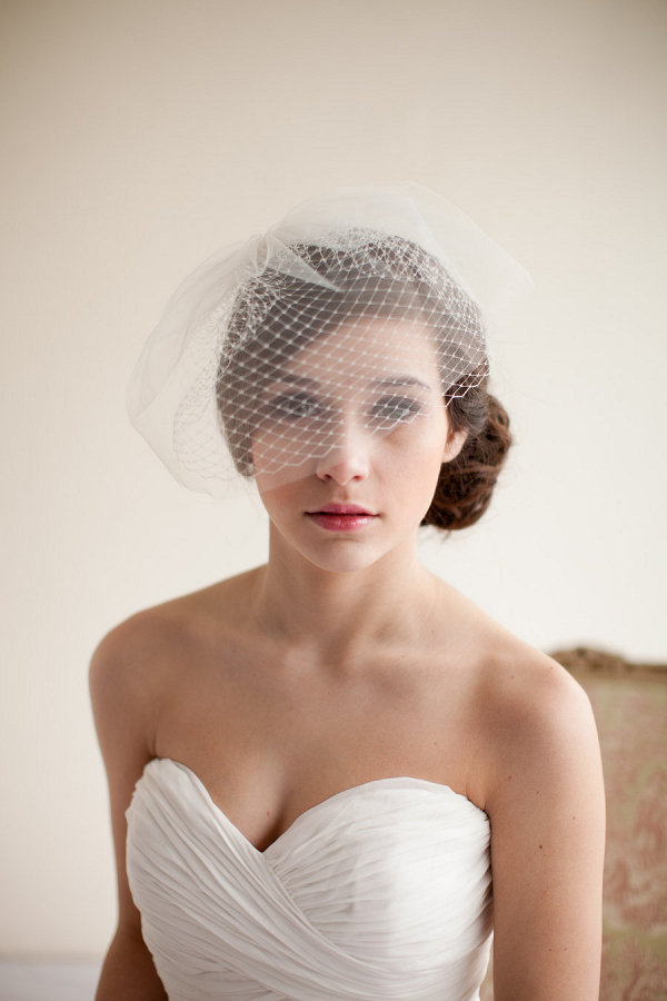 Double Layer Tulle Birdcage Veil