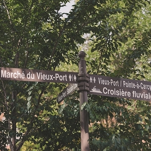 Street signs in French