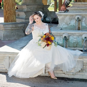 Zoo wedding bride