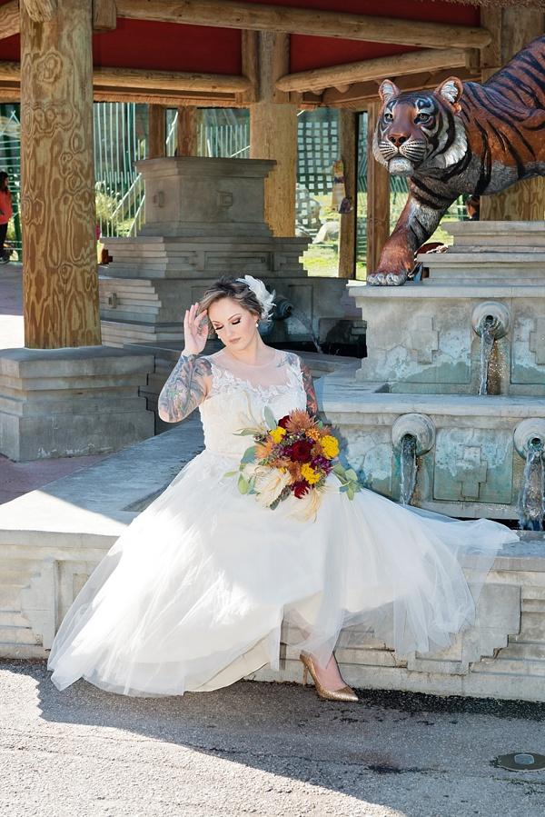 Zoo wedding bride