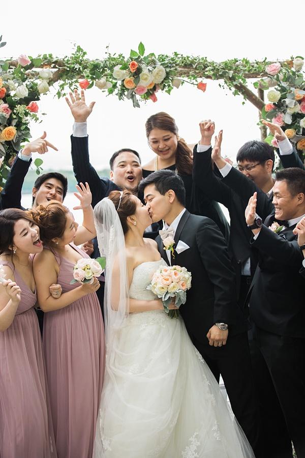 Elegant Korean wedding party