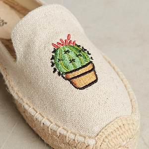 Cactus Embroidered Espadrilles Detail