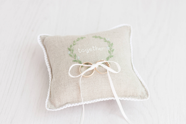 Rustic Wedding Ring Pillow