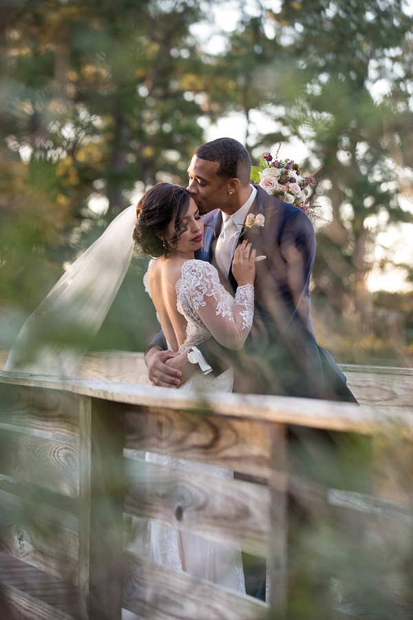 Romantic Virginia Bride and Groom