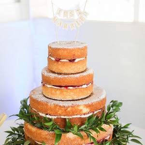 Traditional Victoria Sponge Wedding Cake