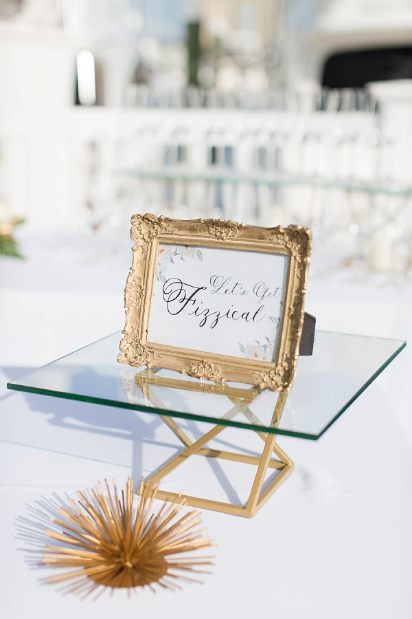 Lets Get Fizzical Gold Frame Sign
