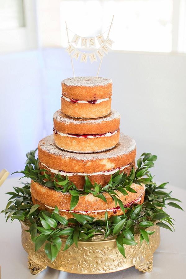Traditional Victoria Sponge Wedding Cake