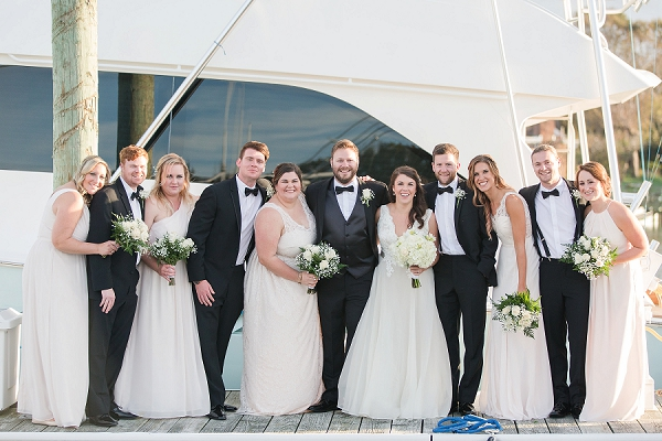 English Garden Waterside Wedding Party