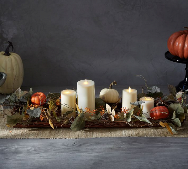 Fall Pumpkin Candle Basket