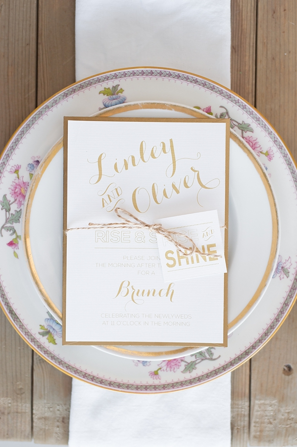 Wedding brunch invitation