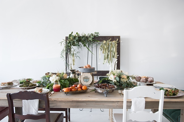 Farm to table wedding brunch