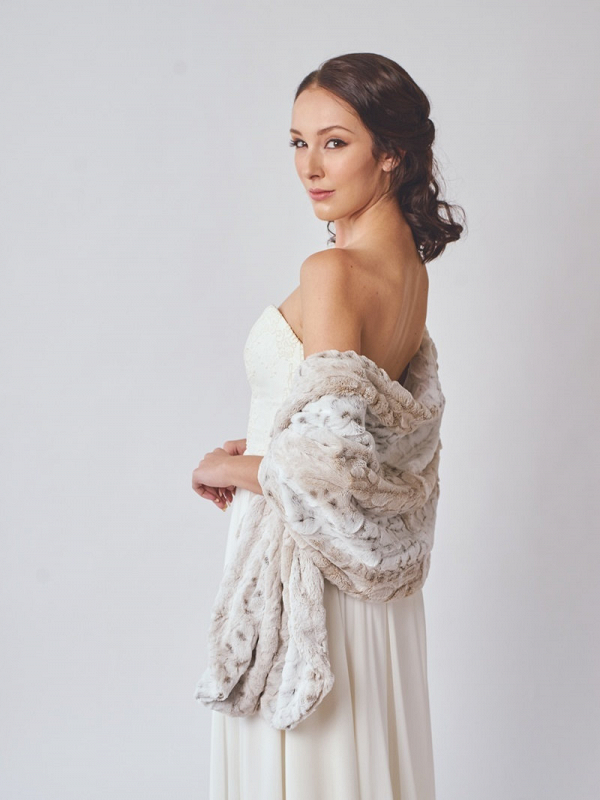 Faux Fur Bridal Stole