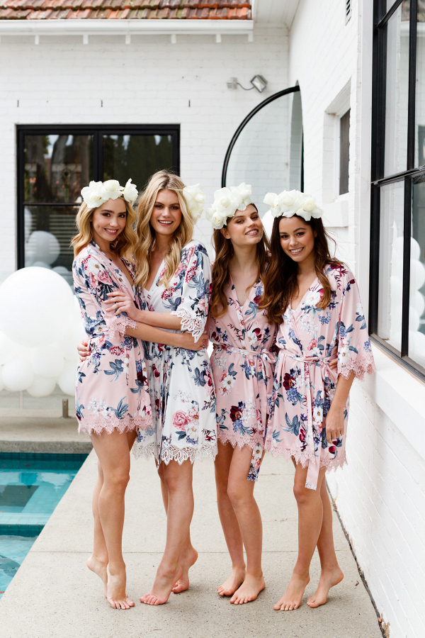 Floral Bridesmaids Robes