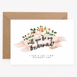 Will You Be My Bridesmaids Proposal Card