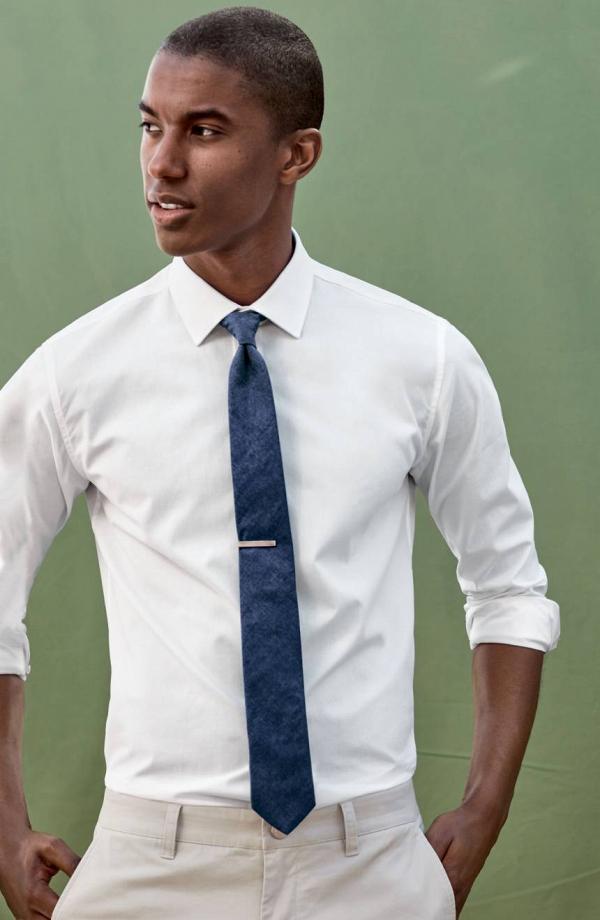 Ted Baker Floral Denim Skinny Tie