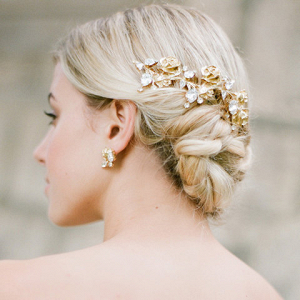 Floral Gold Bridal Hair Piece