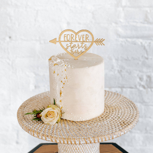 Forever Starts Here Wedding Cake Topper