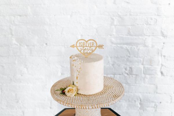 Forever Starts Here Wedding Cake Topper
