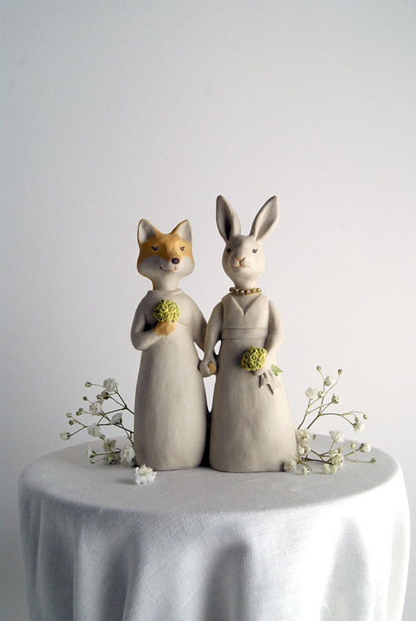 Two Brides Wedding Cake Topper