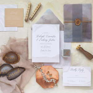 Geode Wedding Invitations