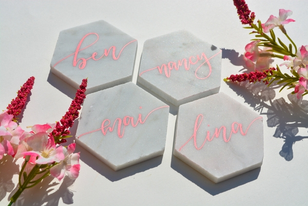 Calligraphy Marble Escort Cards