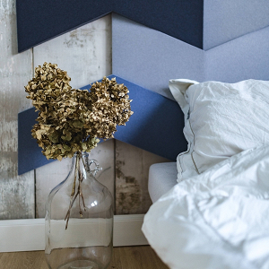 Modern Geometric Blue Bedroom