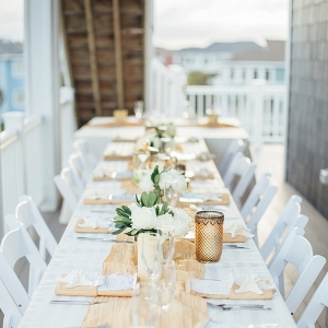 Outer Banks beach house wedding reception