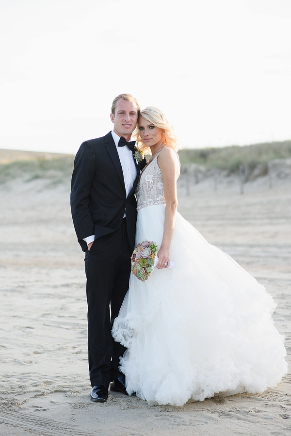Glamorous Beach Bride and Groom