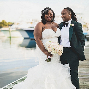 Glamorous wedding with two brides