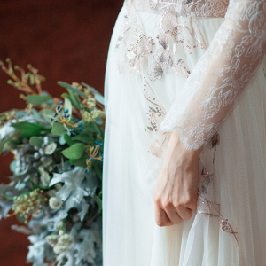 Gloria Embellished Long Sleeve Wedding Dress