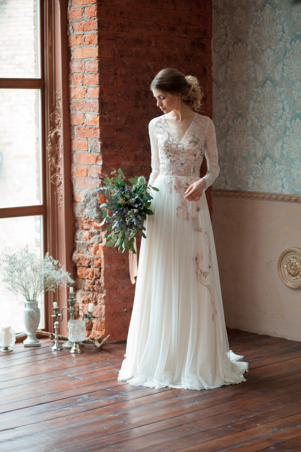 Gloria Long Sleeve Wedding Dress